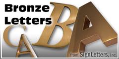 Bronze Sign Letter