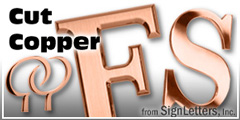 Copper Sign Letter