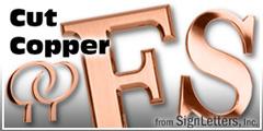 Copper Sign Letter