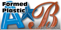 Plastic Sign Letter