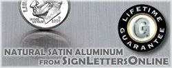 Aluminum Metal Letter products from Sign Letters Online