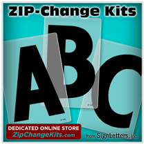 ZIP-Change Sign Letter Kits