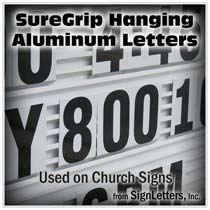 Changeable Aluminum Metal Church Sign Letters