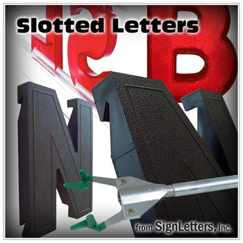 Slotted Marquee Letters from Sign Letters Online