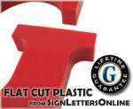 Custom Cut Plastic Sign Letters from SignLettersOnline
