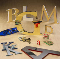 Metal Faced Sign Letters