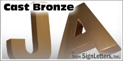 Cast Bronze Sign Letters