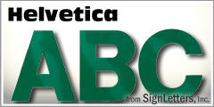 Helvetica Injection Molded Plastic Sign Letters