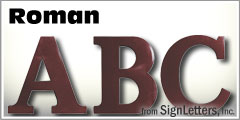 Roman Injection Molded Sign Letters