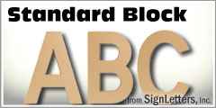 Standard Block Injection Molded Sign Letters