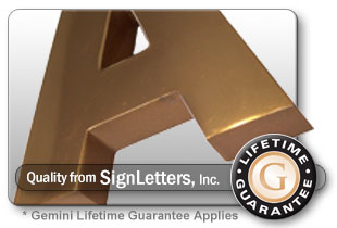 Cast Bronze Sign Letter