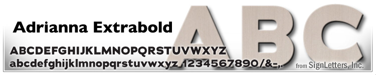 "12"" Cast Aluminum Letters - Champagne Anodized - Adrianna Extrabold"