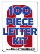 "4"" Letter Kit - 100 Pronto Condensed Letters"