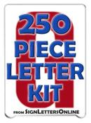 "8"" Letter Kit- 250 Pronto Condensed Letters"